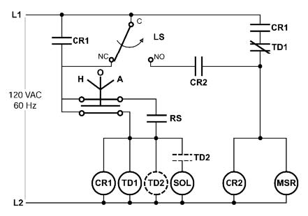 hand off auto selector switch wiring diagram