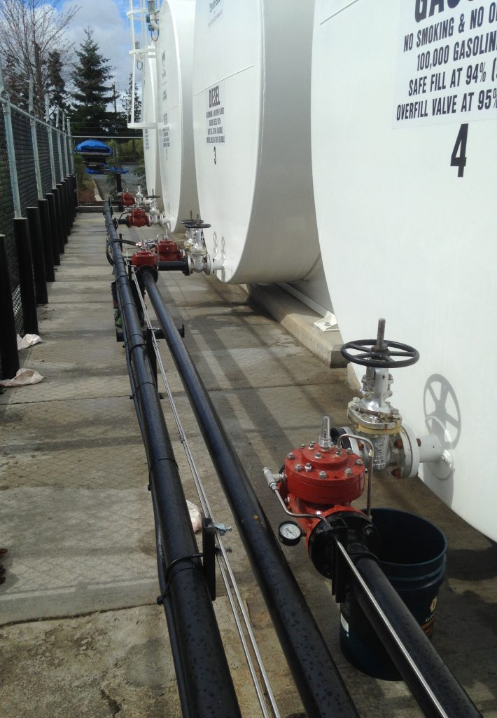 Valves Installed in a Diesel/Gasoline Barge Loading System